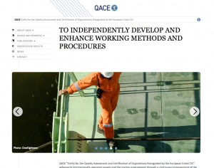 Screenshot of QACE website