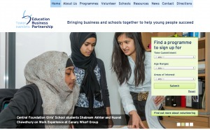 Screenshot of the Tower Hamlets EBP website
